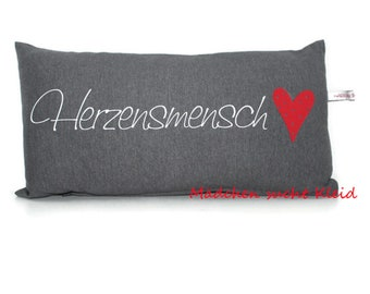 Our HeartMan Pillow, Pillow Cover with Zipper and Filling, Pillow for Girlfriend