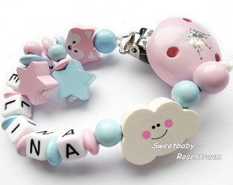 Pacifier with Name, girl
