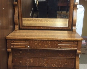 Antique Dresser With Mirror Etsy