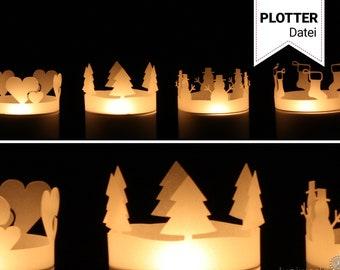 Weihnachtliche Teelichthüllen (Plotterdatei)