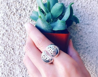 Living Stones Ring Sterling Silver organic Lithops jewelry earth lover cactus succulent