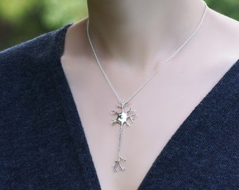 Neuron Pendant Sterling Silver motion energy sport thrive enthusiasm yolo human sterling silver pendant necklace