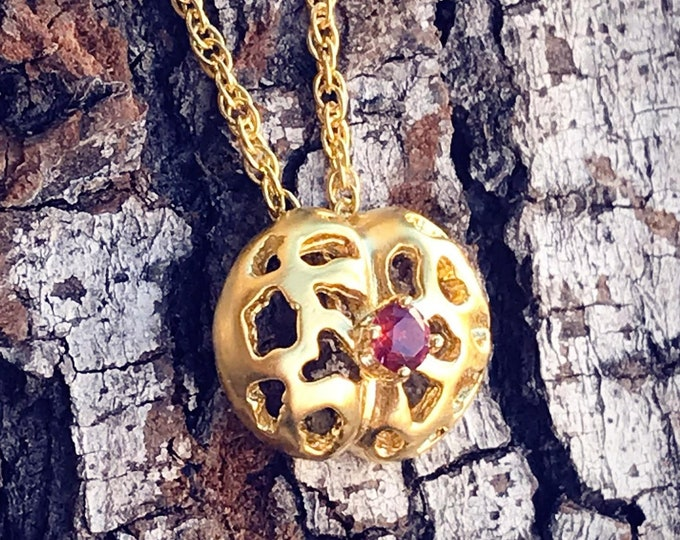 Living Stones Pendent (Gold Vermeil) Sterling Silver organic flower seed jewelry earth lover cactus succulent