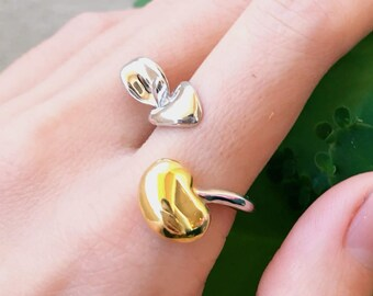 Budding Ring (Gold Vermeil) Sterling Silver organic flower seed sterling silver jewelry floral gold vermeil budding stud