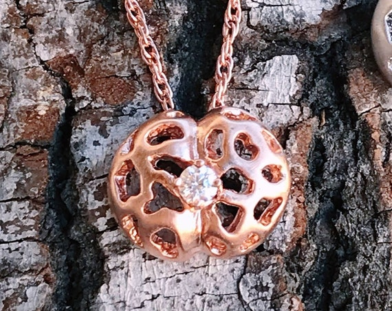 Living Stones Pendent (Rose Gold Vermeil) Sterling Silver organic Lithops jewelry earth lover cactus succulent