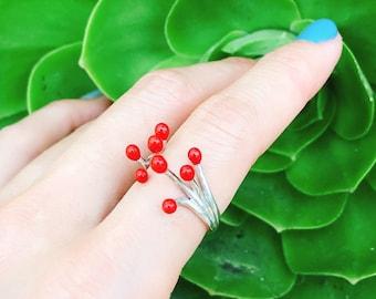 Matchstick Ring Sterling Silver organic design fire energy perform lightening lift nature enjoy love