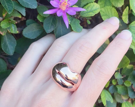 Kiss Me Ring (Rose Gold Vermeil) Sterling Silver love baby surprise naughty baby humor hug family gift couple girl boy jewelry
