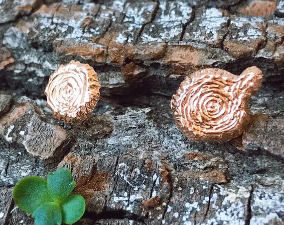 Tree Stud Earrings (Rose Gold Vermeil) Sterling Silver green earth love eco friend sterling silver earrings