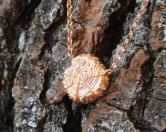 Tree Pendant (Rose Gold Vermeil) Sterling Silver green earth love eco friend sterling silver pendant earrings