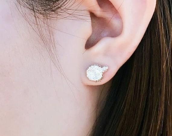 Tree Studs Earrings Sterling Silver green earth love eco friend sterling silver earrings