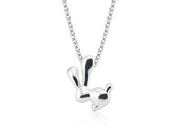 Bunny Pendant Sterling Silver Friend love naughty baby bff rabbit pendant necklace