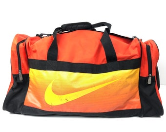 22a8d5b568 Beautifully Beat Nike Duffel Bag - Large Nike Swoosh Vintage Travel Bag  with Tote Handles & Shoulder Strap - Distressed Nike Athletic Bag