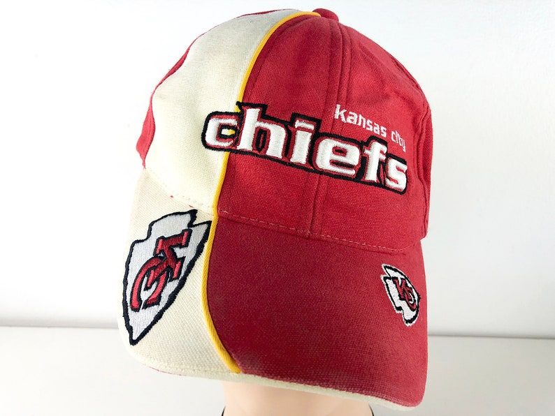 c84a1e60 Vintage Kansas City Chiefs Cap Pro Line Authentic One Size NFL Chiefs Hat  KC Football Reebok Vintage Trucker Hat Red Cream & White