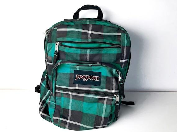 Blue-Green Plaid Jansport Backpack - 90s Vintage E