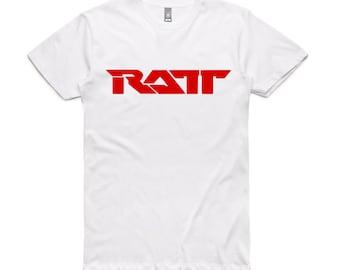 4a685838f961 Ratt logo t-shirt New white tshirt American Glam metal band t shirt heavy  metal hard rock band t-shirt