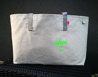 XXL Beachbag AHOI green