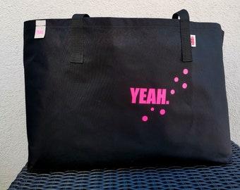 XXL Beachbag YEAH black