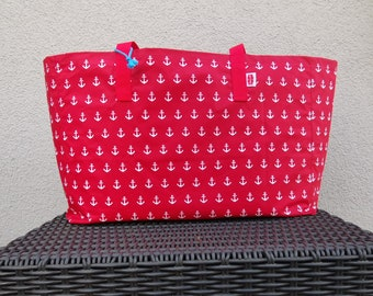 XXL Beachbag Anchor red