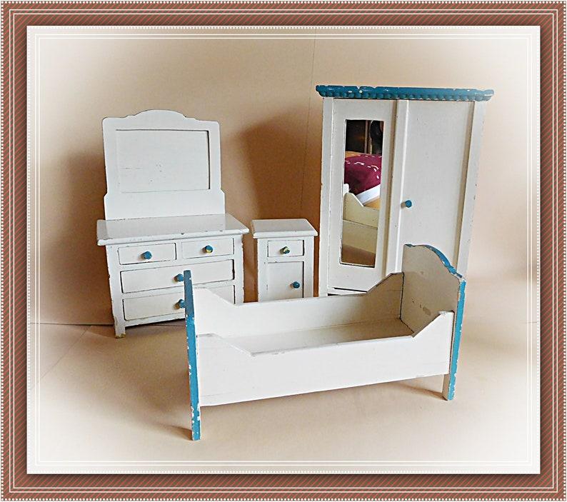 Alte Schlafzimmer Puppenmöbel Puppenstube Schrank Kommode   Etsy
