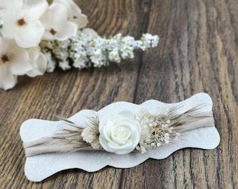 Flower hairband, hairband, flower band, baby, girl