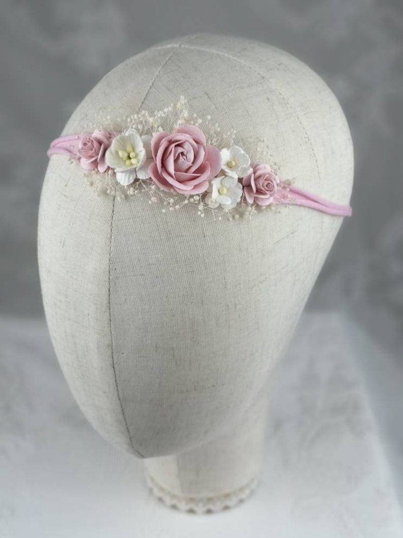 Set of 2 hairband flower band for mom /& baby