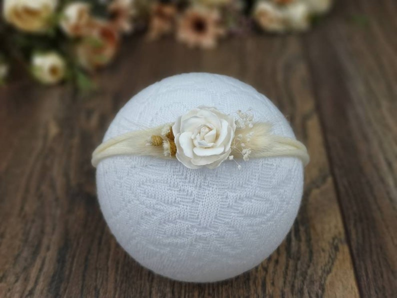 Girl Baby Hairband Flower Ribbon