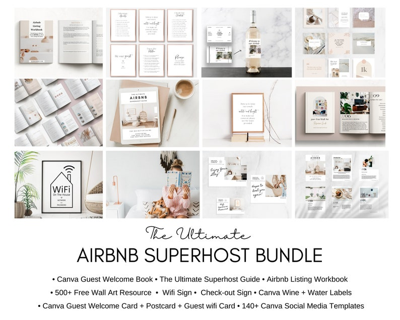 Airbnb Host Bundle  Welcome Book Template  Superhost  How image 0
