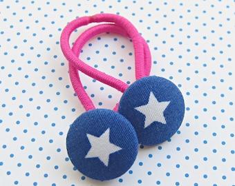 Star children's hair set Blue & Pink