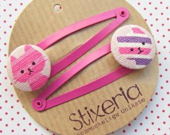Cats Children's Hair Clips pink