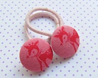 Hair Gum Deer Rosie Pink Red