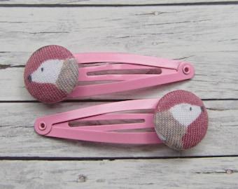 Polar Bear Hair Clips Pink