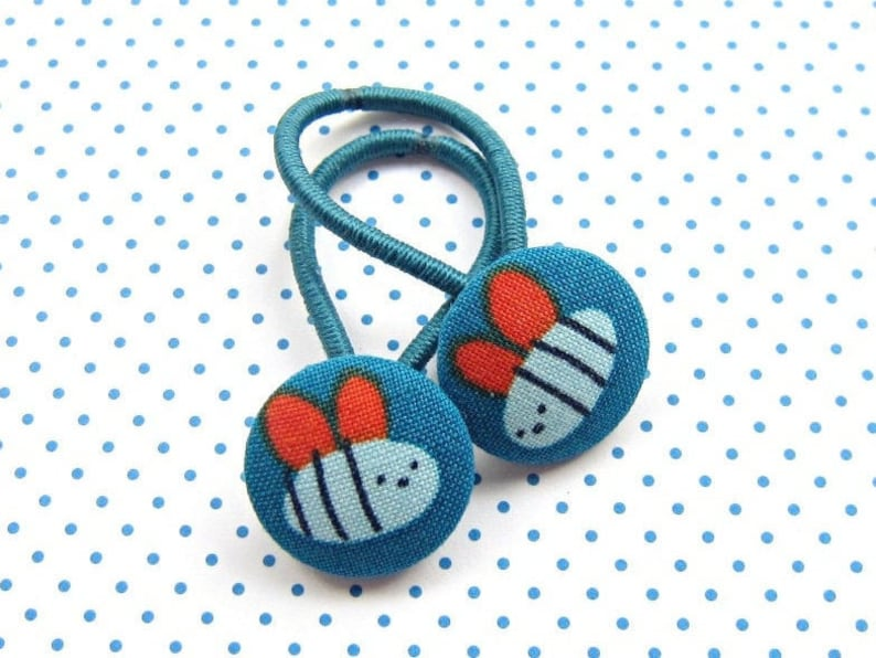 Lucky Beetle Hair Rubber Set Dark Turquoise image 0