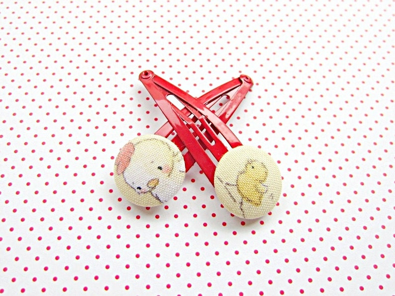 Hair clip hen & chick image 0