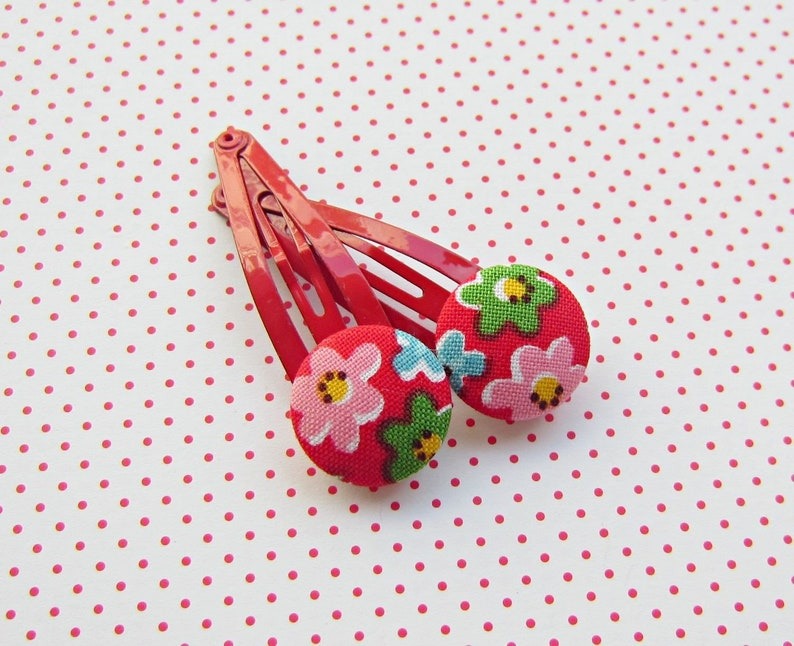 Summer flowers hair clips image 0