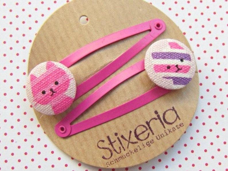Cats Children's Hair Clips pink image 1