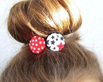 Star & Polka Dots Hair Rubber Set