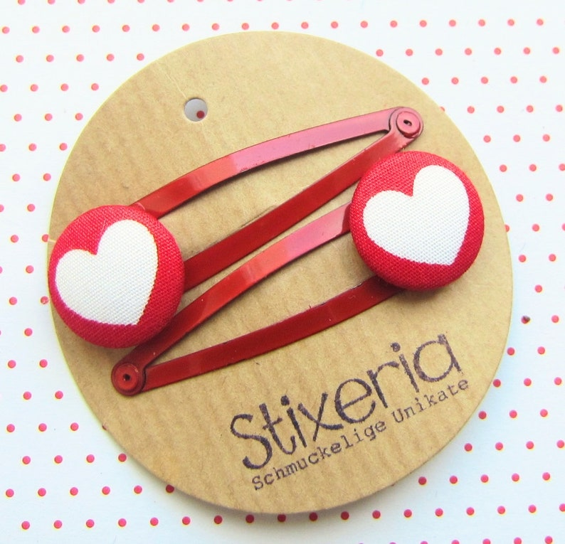 HEART Children's Hair Clips Set Hearts image 0