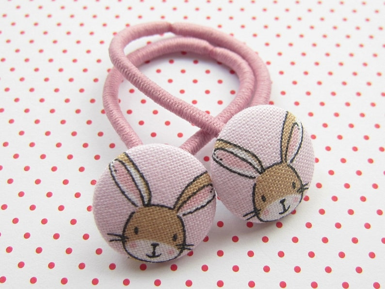 Bunnies Children's Hair Rubber Set Pink HÄSCHEN image 0