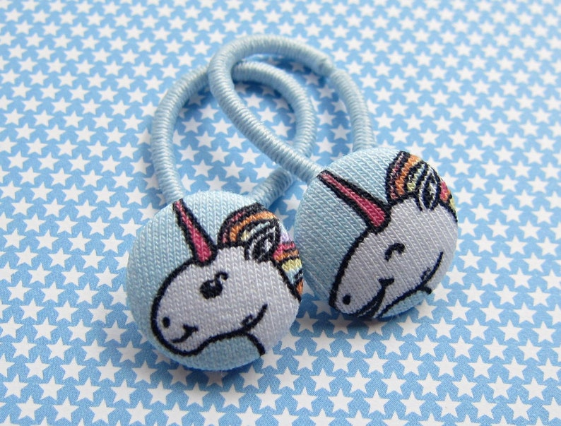 EINHORN Haargummi set light blue image 0