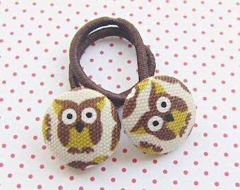 Owl Children's hair rubber owls