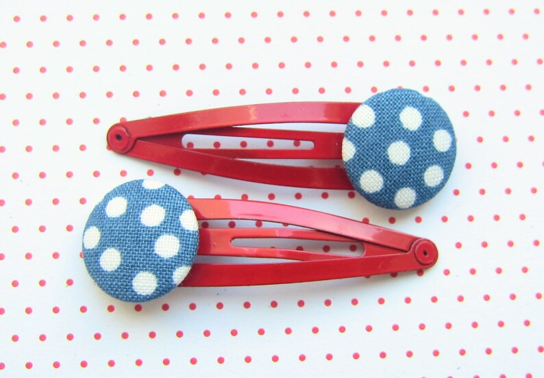 Dots children's hair braces ROT BLAU image 0