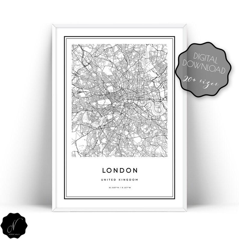 London Street Map Pdf Free Download.London Map Print London City Map Wall Art Prints Printable Map Of London London Map Wall Art London Print Downloadable Art London Art