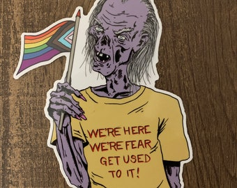 Crypt Keeper Queer Pride 5 Inch Sticker