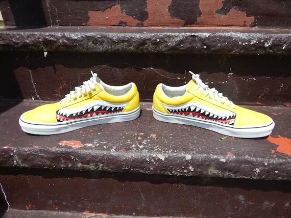 67c4e422d83 Custom Bape Shark Teeth Vans