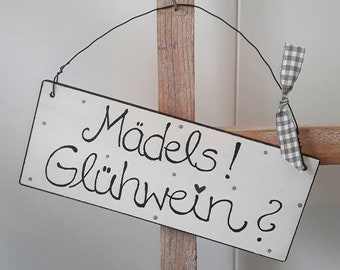 Schild aus Holz Wichtelgeschenk