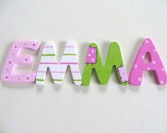 Holzbuchstaben Kinderzimmer Türbuchstaben 6 cm