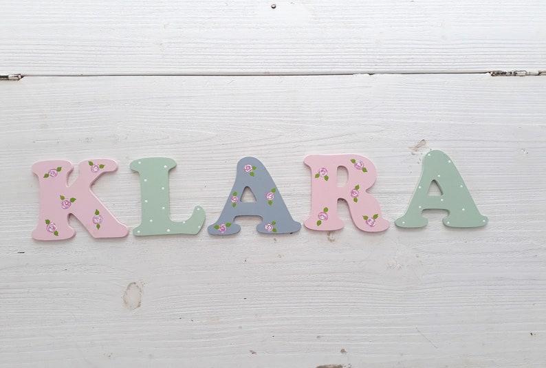 Holzbuchstaben, Türschild, Kinderzimmer, Buchstaben Tür, letters