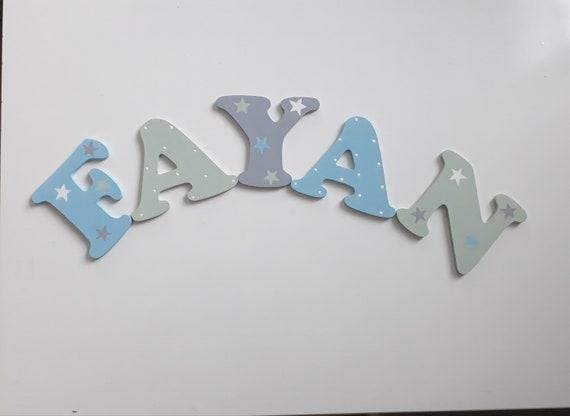 Türschild Namensschild Individuel Personalisiert Kinderzimmer Holz Buchstaben