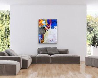 Canvas & Paper Abstrac Full Color  V