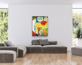 Abstract Geometric Painting, Great Abstract Painting Print, Great Wall Art Giclee Print, Giclee Wall Art